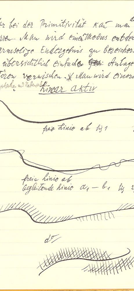 The active line. Une page des carnets de Paul Klee